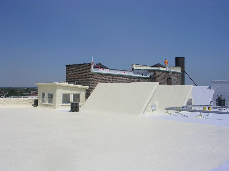 fluid roof coating application