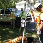 WPS techs at Manhole Repair