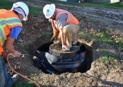 WPS repairing a manhole